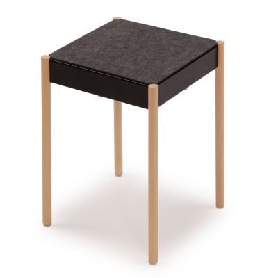 La Table Stapelbarer Hocker B1W/FG | Schwarz RAL 9005