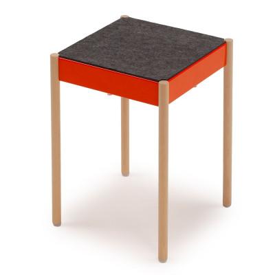 La Table Stapelbarer Hocker B1W/FG | Orange RAL 2004