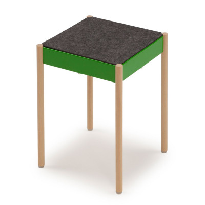 La Table Stapelbarer Hocker B1W/FG | Grün RAL 6018
