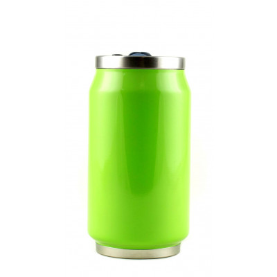 Isotherme Blechdose 280 ml | Grünes Fluo