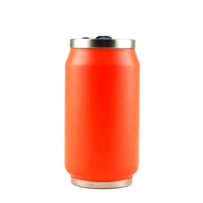 Isotherme Blechdose 280 ml | Orange Fluo