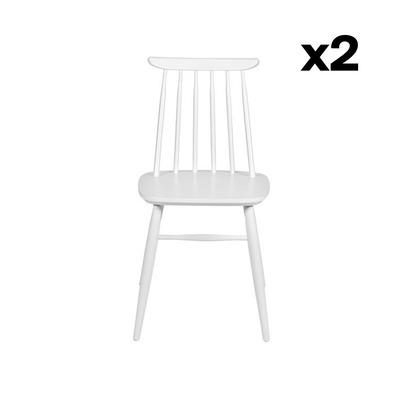 2-er Set Stühle Aino | Weiß