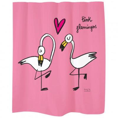 Shower Curtain   Pink Flamingos