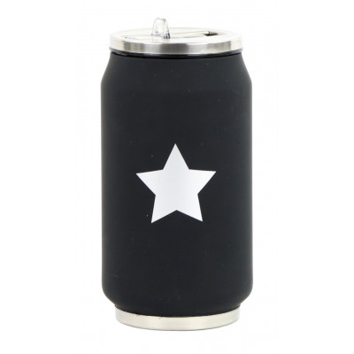Isotherme Blechdose 280 ml | Black Silver Star