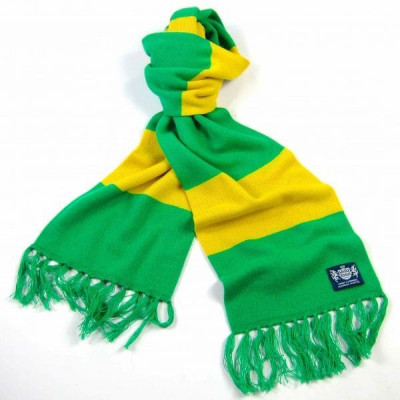 Grüner und gelber Deluxe-Kaschmirschal