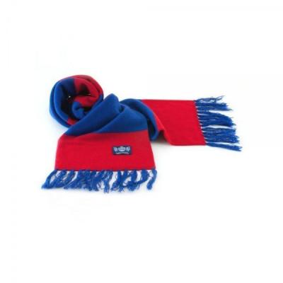 Blauer und roter Deluxe-Kaschmirschal