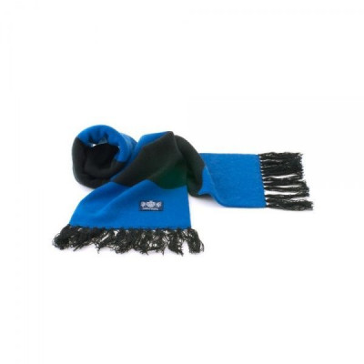 Blauer und schwarzer Deluxe-Kaschmirschal