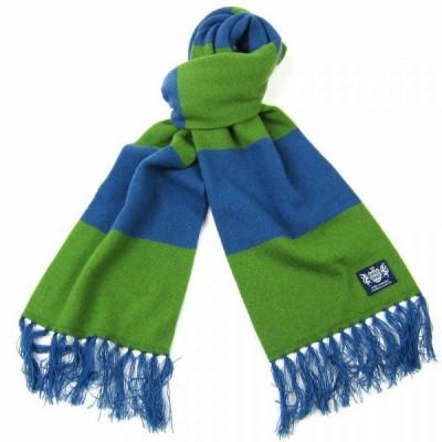 Blauer und grüner Deluxe-Kaschmirschal