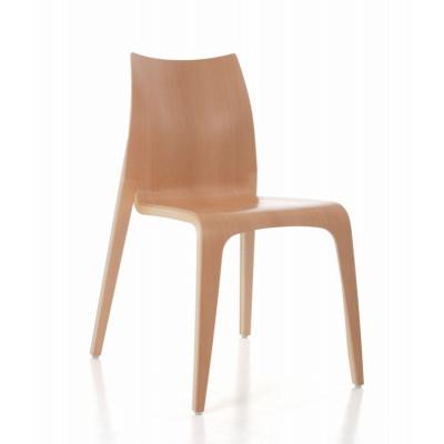 Flow Stuhl | Buche lackiert