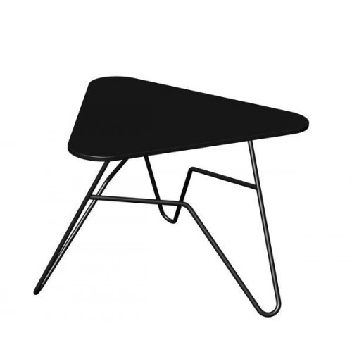 Twist Triangular Table   Black