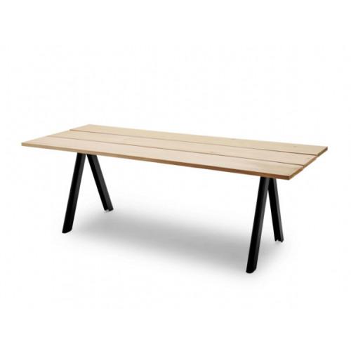 Tisch Outdoor Overlap | Zedernholz & Grau