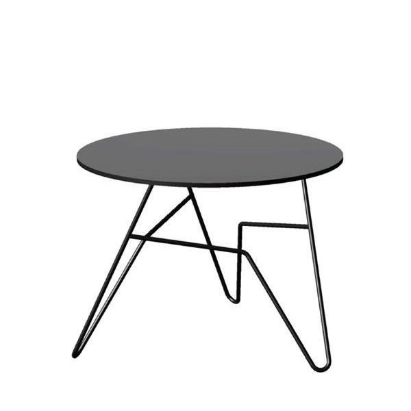 Twist Round Table Black   Small