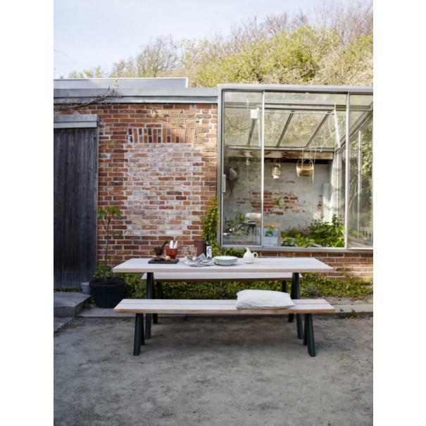 Bank Outdoor Overlap | Zedernholz & Grün