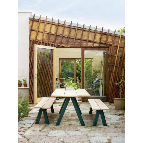 Tisch Outdoor Overlap | Zedernholz & Grün
