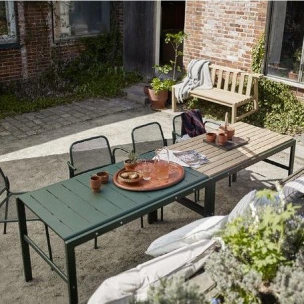 Tisch Reform | Teak / Grün