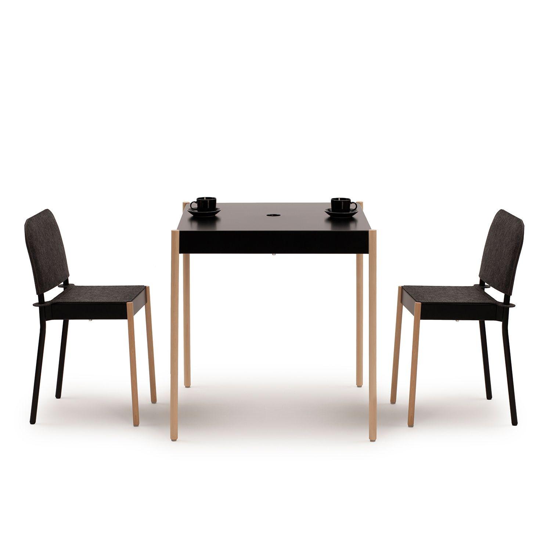 C1TW/k/FG La Table Chaise Empilable | Noir RAL 9005