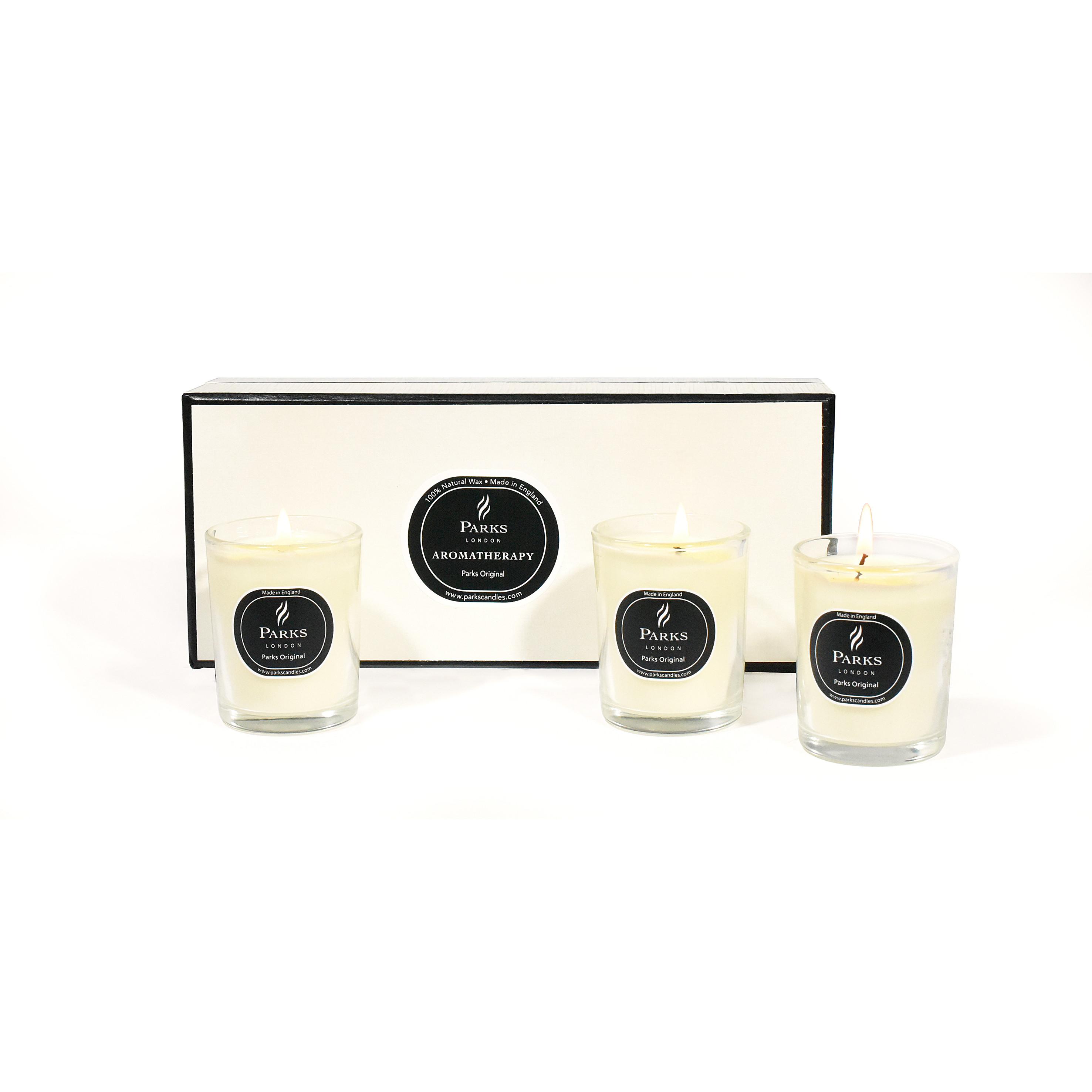 Bougie Parfumée Set de 6 Parks Original - Vanille, Patchouli & Lavande