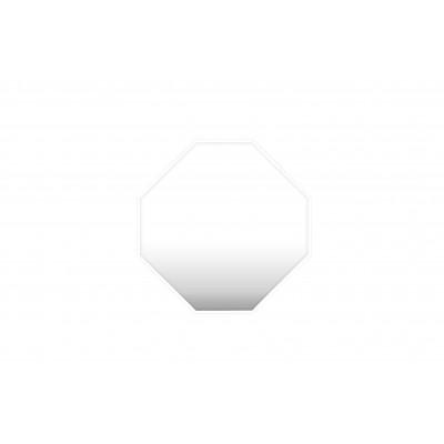 Reflektierender Spiegel mit Rand | Weiß
