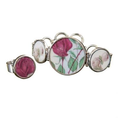 Set Antique Rose - ring & Bracelet