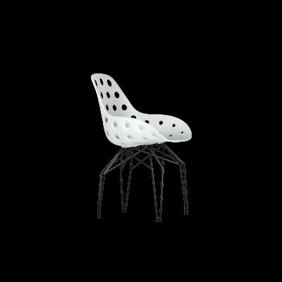 Stuhl mit Löchern Diamond   Schwarz