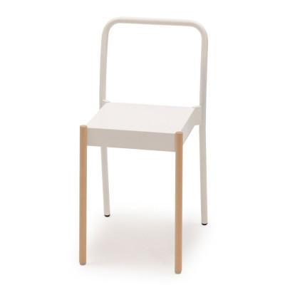 La Table Stapelbarer Stuhl C1TW | Weiß RAL 9016