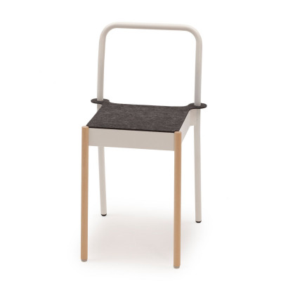 La Table Stapelbarer Stuhl C1TW/i/FG | Weiß RAL 9016