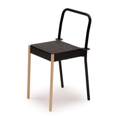 La Table Stapelbarer Stuhl C1TW/i/FG | Schwarz RAL 9005