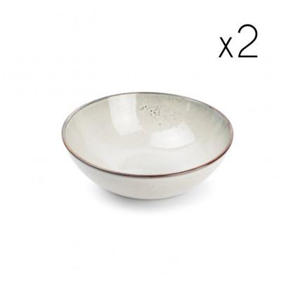2er-Set Schüssel Freckles 21xH12cm | Grau
