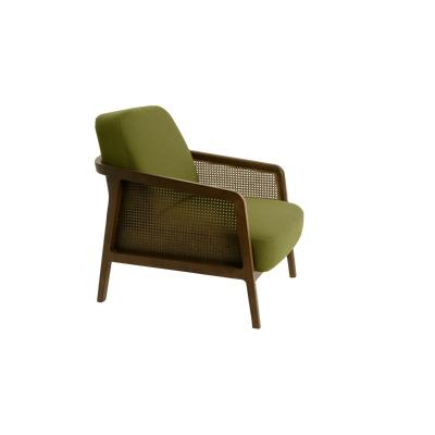 Vienna Armchair | Walnut/Green