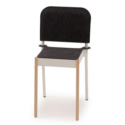 La Table Stapelbarer Stuhl C1TW/k/FG | Weiß RAL 9016