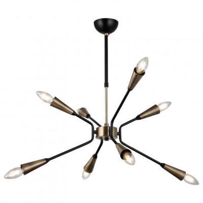 Metallkronleuchter Trapa | 8 Lichter | Gold Schwarz