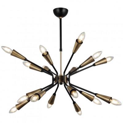Metallkronleuchter Trapa | 16 Lichter | Gold Schwarz