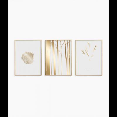 Poster 24K Gold | Kombination von 3 041