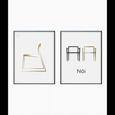 Poster 24K Gold | Kombination von 2 026