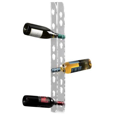 Flaschenregal Wine Not | Wandflaschenregal Bacco | Transparent