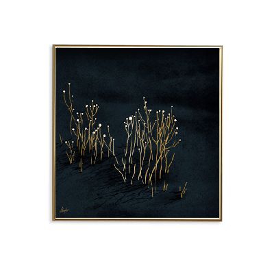 Poster 24K Gold Small | Blauer Samt