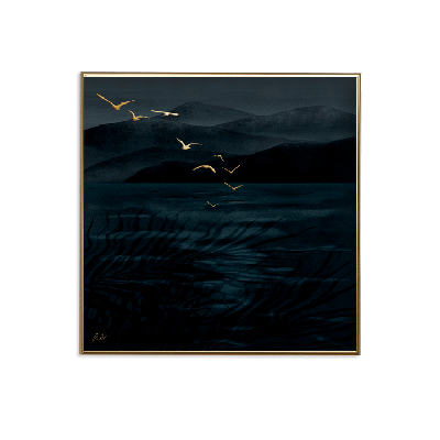 Poster 24K Gold Small | Nachtvögel
