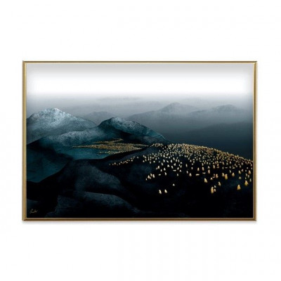 Poster Gold-Ambiente | Pinguine