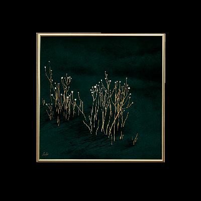 Poster 24K Gold Klein | Grüner Samt