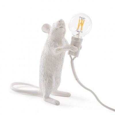Lampe Maus Stehend | Weiß