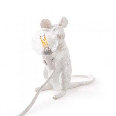 Lampe Maus Sitzend | Weiß