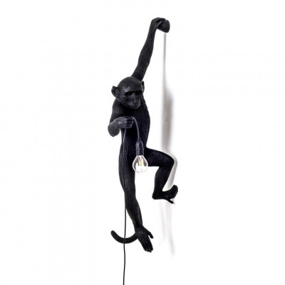 Außenlampe Affe Hängend | Schwarz