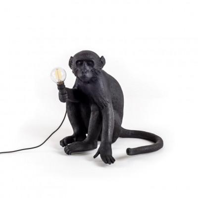 Außenlampe Affe Sitzend | Schwarz