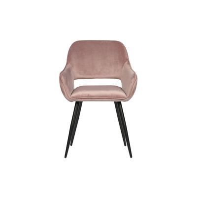 2-er Set Stühle Samt Jelle | Hellrosa