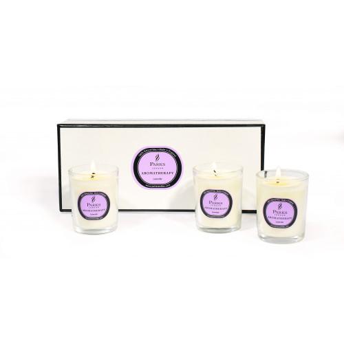 Duftkerzen-Set mit 3 Lavendel