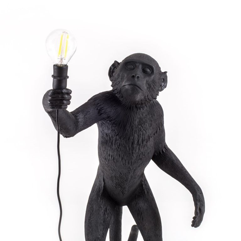 Außenlampe Affe Stehend   Schwarz
