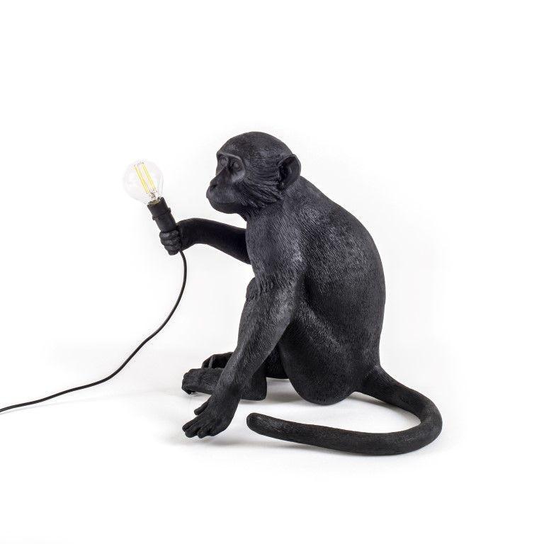 Außenlampe Affe Sitzend   Schwarz