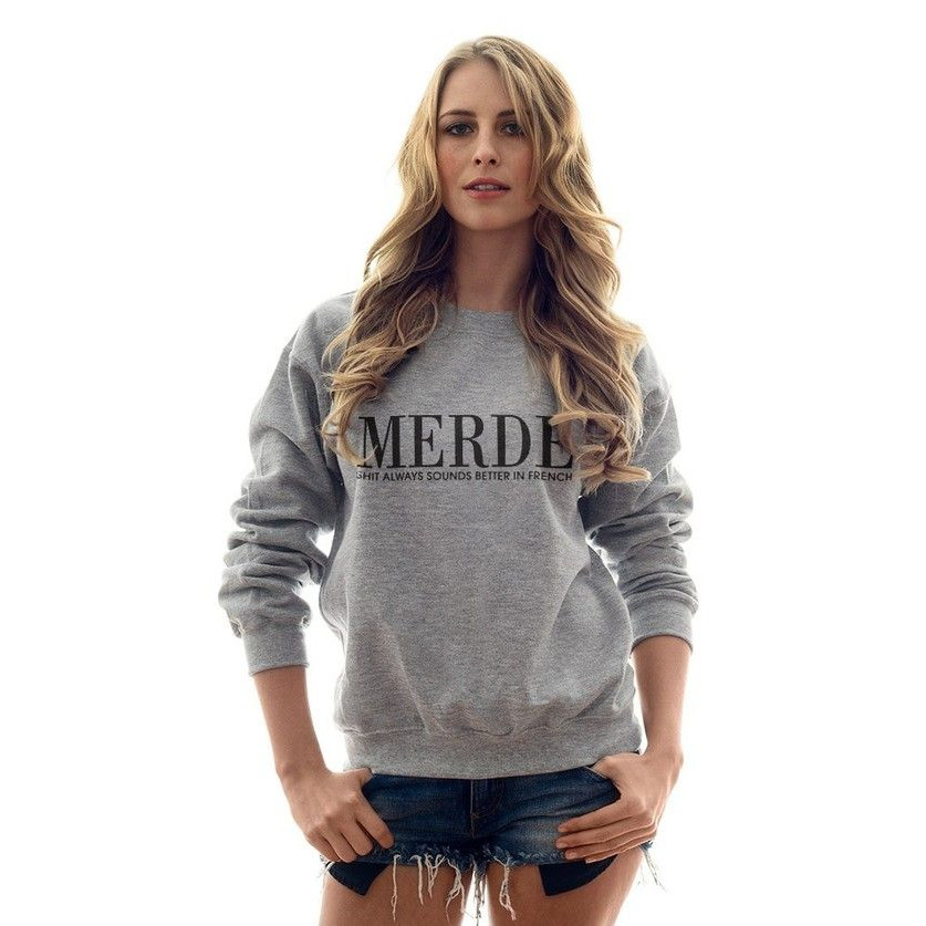 Merde Sweater   Grey