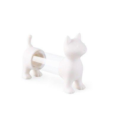 Zahnstocherhalter & Salz- und Pfefferstreuer Katze   Weiß