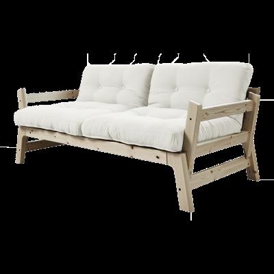 Sofabettstufe | Natürlicher Rahmen | Natürlicher
